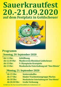 41. Sauerkrautfest - 20.&21. September 2020 @ Festplatz am Naturbad