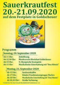41. Sauerkrautfest - 20.&21. September 2020 @ Festplatz am Naturbad