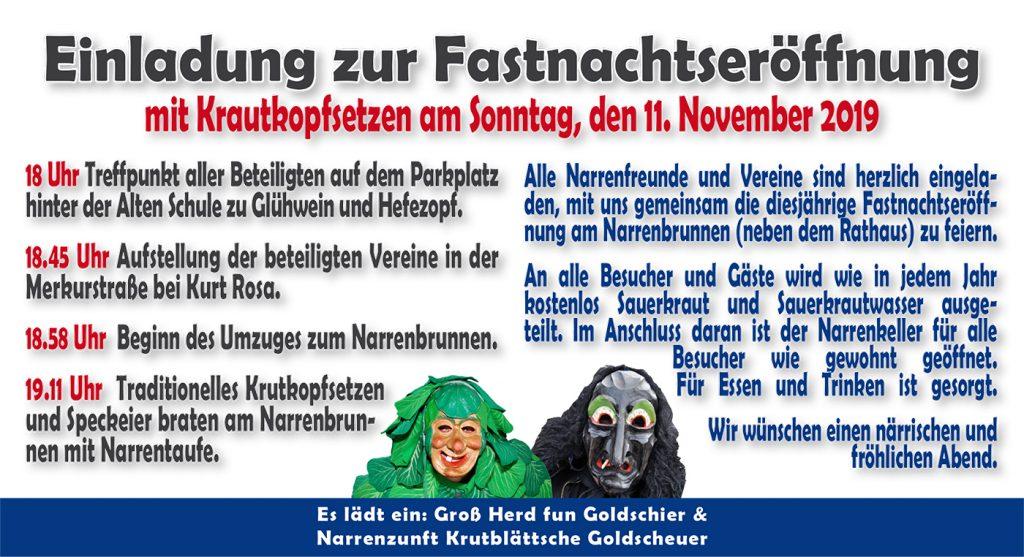 Fastnachtseröffnung am Narrenbrunnen @ Narrenkeller | Kehl | Baden-Württemberg | Deutschland
