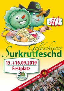 40. Sauerkrautfest - 15.&16. September 2019 @ Festplatz am Naturbad